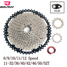 BOLANY MTB Cassette 8/9/10/11/12 Speed Mountain Bike Freewheel 32/36/40/42/46/50/52T Bicycle Sprocket for Shimano Sram