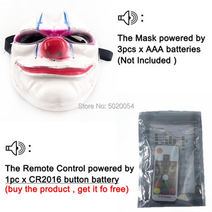 Image 4 - Nieuwigheid Cosplay Kostuum Props Volledige Gezicht Led Masker Scary Halloween Masque Stadium Dansvoorstelling Accessoires Met Afstandsbediening