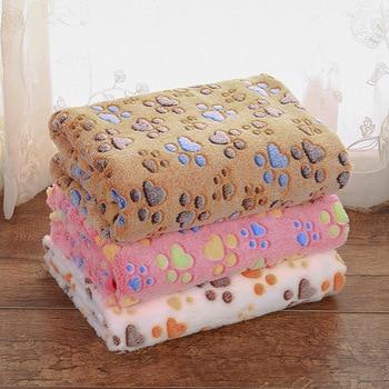 Pet Blanket Cute Floral Paw Print Pet Mat Warm Soft Cat Dog Puppy Coral Fleece Bed Blanket S/M/L Pet Supplies m style диван coral
