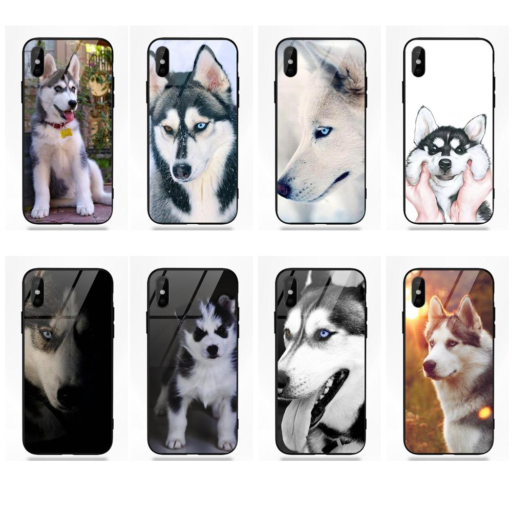 Cute Puppy Pug Originality <font><b>Siberian</b></font> <font><b>Husky</b></font> For Apple iPhone 5 5C 5S SE 6 6S 7 8 Plus X XS Max XR image