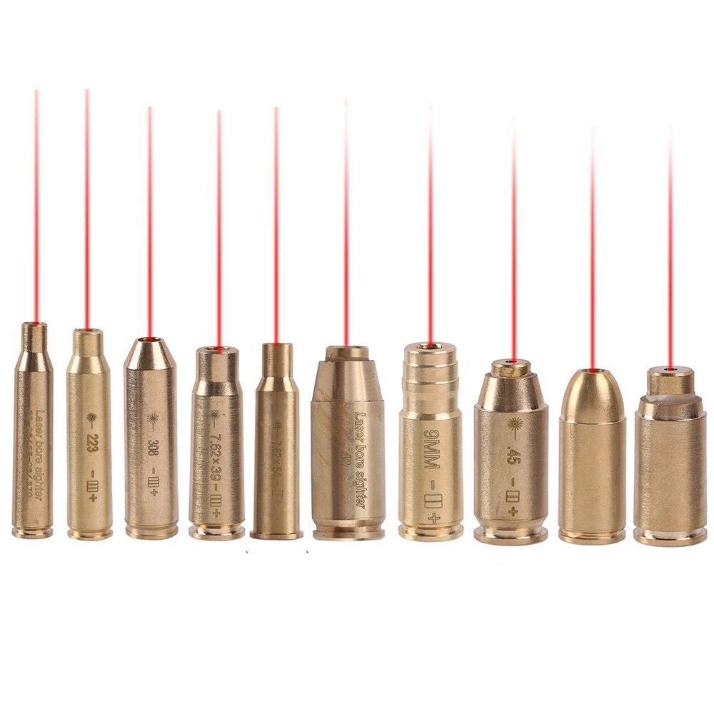 Тактический красный точечный Лазер CAL 9 мм. 308R .223 .40 7,62x39 мм 9 мм Картридж для близорукости латунный медный корпус