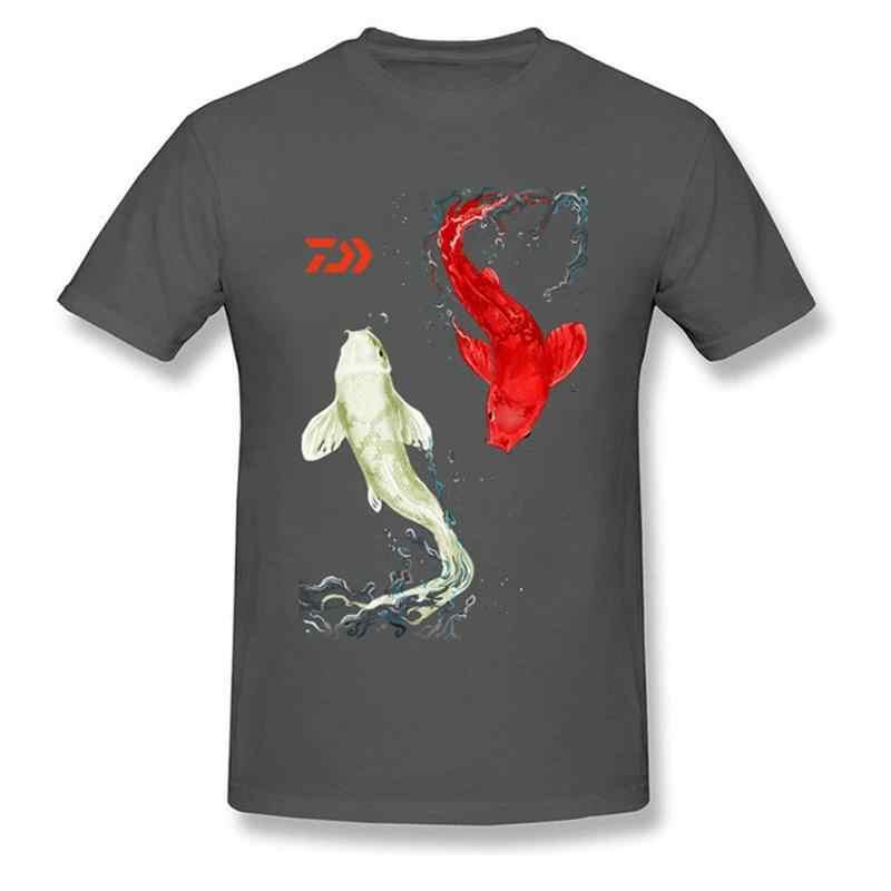 2019 nowy z krótkim rękawem lato ryby Koi koszulka dla mężczyzn Sport na świeżym powietrzu oddychające szybkie pranie połowów niepowtarzalny styl topy koszulki