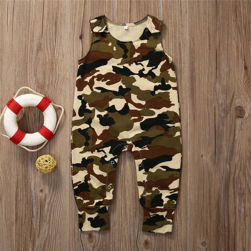 Для новорожденных, для маленьких мальчиков, девочек, камуфляжный костюм ползунки комбинезон наряды Комплект одежды легкий костюм с шортами Маскировочный, армейский, Зеленый Спортивный костюм для малышей, KledingTop