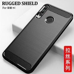 На Алиэкспресс купить чехол для смартфона for honor 9c case carbon fiber cover full protection phone case for huawei honor 9c case cover shockproof bumper