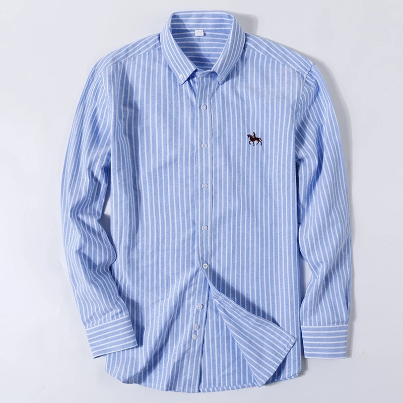 S-6XL Plus size New  OXFORD FABRIC 100% COTTON excellent comfortable slim fit button collar business men casual shirts tops 5