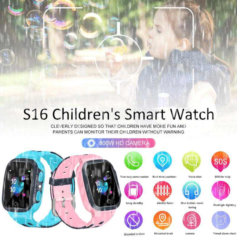 S16 Kinder Rufen Kinder Smart Watch LBS Kinder SOS Antil-verloren Wasserdichte Smartwatch Baby 2G Uhr Standort Tracker uhren