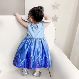 Image 4 - New Movie Frozen 2  Anna Elsa Party Princess  girls party dress  little girls dresses  christmas dress for baby girls