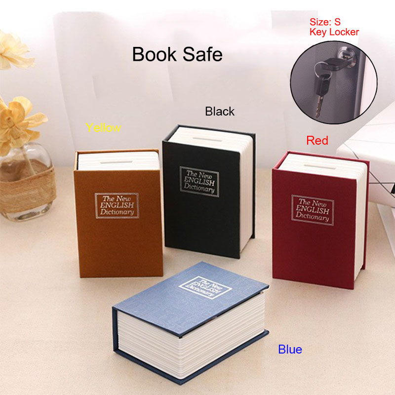 S Dictionary Book Safe Security Key Locker Money Hidden Secret Safe Key Safe Box Cash Money Storage Jewelry Lock Box Piggy Bank