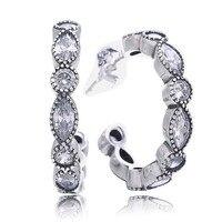 Аутентичные 925 пробы серебряные серьги, очаровательные блестящие серьги-гвоздики маркиза для женщин, свадебный подарок, ювелирные изделия ...