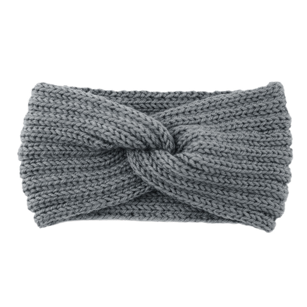 Winter Warmer Ear Knitted Headband Turban For Lady Women Crochet Bow Wide Stretch Hairband Headwrap Hair Accessories