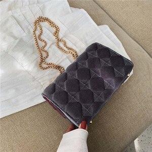Image 4 - Женская клетчатая сумка через плечо, большая сумка мессенджер известного бренда, Классическая модная женская сумка через плечо, зима 2019