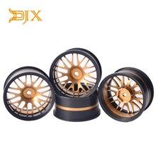 DJX 4 قطعة معدن 1/10 الانجراف إطارات عجلات السيارة ل ساكورا D4 D3 CS XI HSP HPI على الطريق RC سيارة