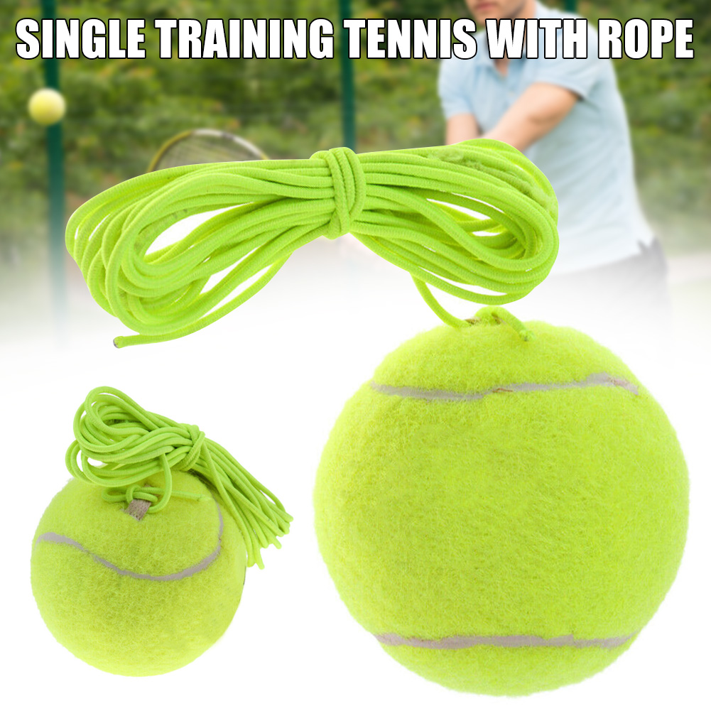 Tennis Trainer Tennis Ball Practice Single Self-Study Training Rebound Tool With Elasctic Rope EDF88
