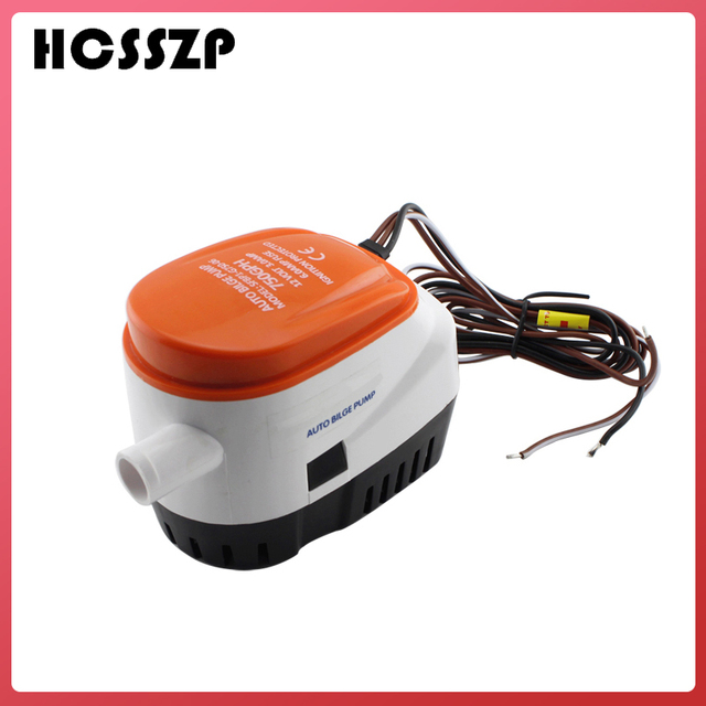 HCSSZP 750GPH automatyczna pompa zęzowa do łodzi 12V DC zatapialna elektryczna pompa wodna mała 12 v volt 750 gph do łódź morska