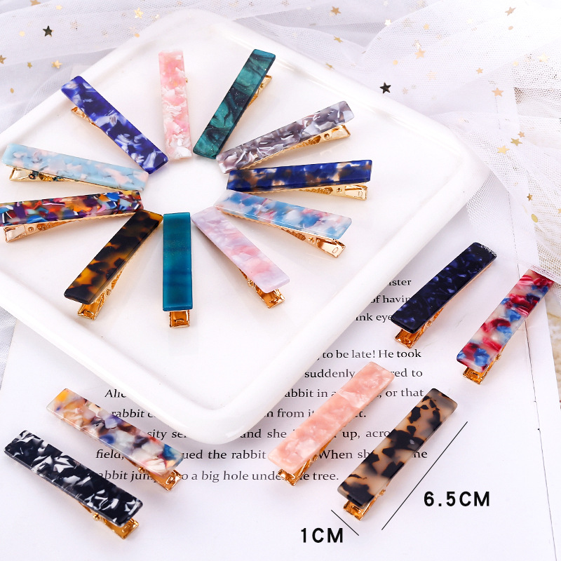 2019  New Women Fashion Geometric  Hair Clips Shiny Tin Foil Sequins Hairpins Sweet Cute Girls Barrettes Hair Accessories