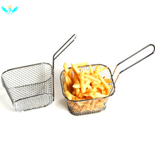Kitchen Tool Electroplate Stainless Steel Mini Frying Nets Square Blocks DWH5