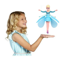 Princess Dolls Mini RC Drone elicottero induzione a infrarossi Flyings Quadcopter Dolls carino LED Light Fly Toy regalo di compleanno