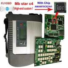 2019 mejor calidad estrella C4 con ADG426 y AM79C874VI Chip MB STzAR SD conectar C4 compacto de 4 herramienta de diagnóstico con la función de WIFI