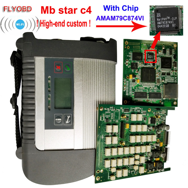 2020.09 Best Quality MB Star C4 with ADG426 &AM79C874VI Chip MB STAR SD Connect C4 Compact 4 Diagnostic Tool with WIFI Function
