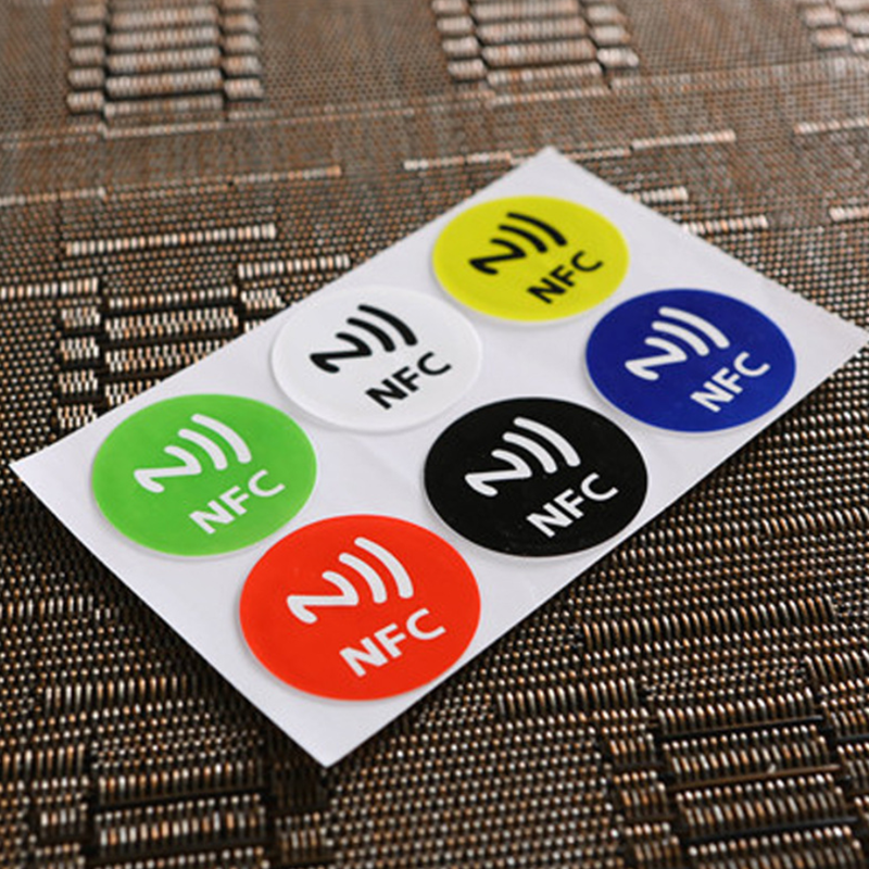 6 Pcs Stickers RFID Tag Label For HUAWEI NFC Phone , Electronic 13.56mhz NTAG213 NFC For Universal Phones Adhesive NTAG 213