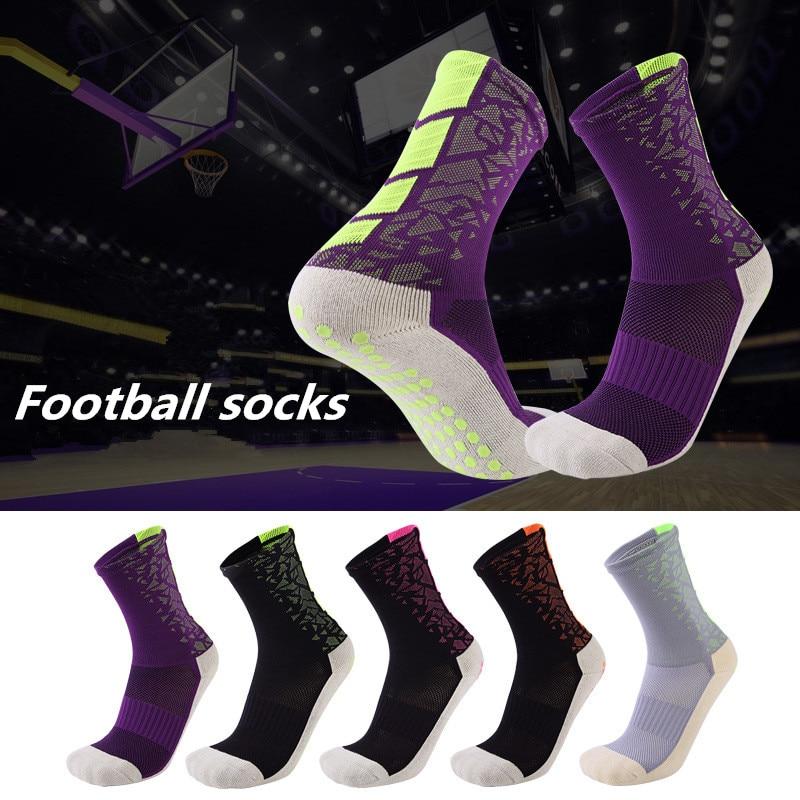 Новые спортивные Нескользящие футбольные носки, хлопковые носки для футбола, мужские носки, носки (того же типа, что и Trusox)