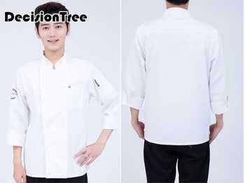 2020 black long sleeve master cook work uniforms restaurant hotel bbq kitchen high quality workwear clothing food service