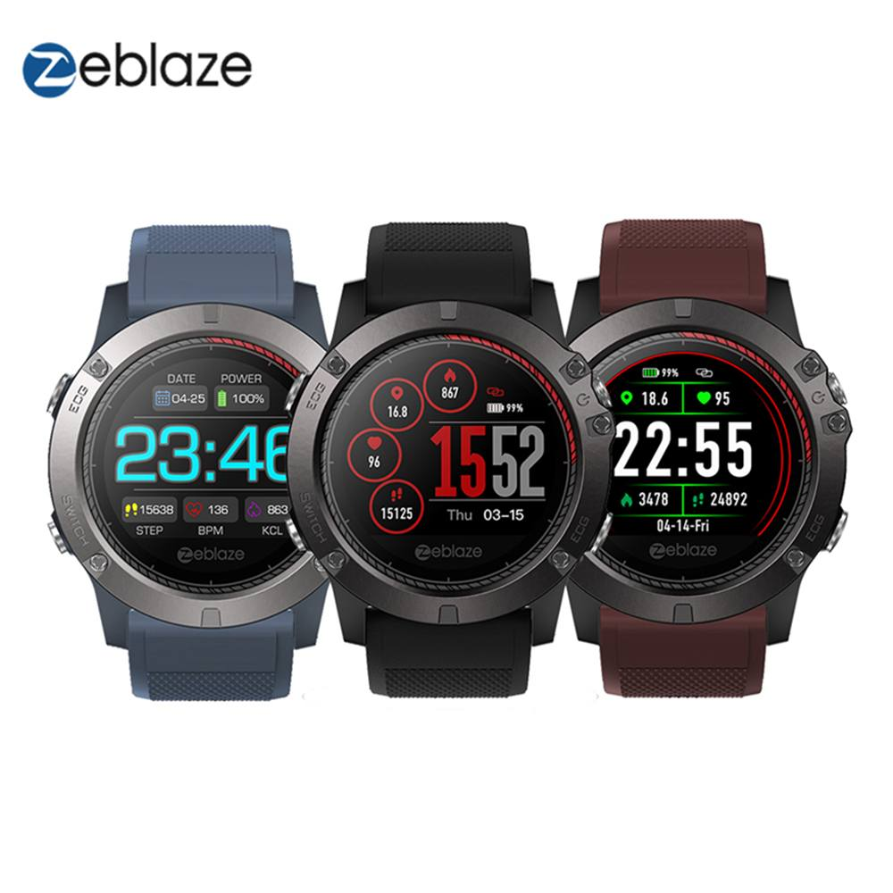 Zeblaze VIBE 3 ECG <font><b>Smart</b></font> <font><b>Watch</b></font> Instant ECG on demand Color <font><b>display</b></font> Heart Rate IP67 Multi-sport modes Fitness Track for Android image