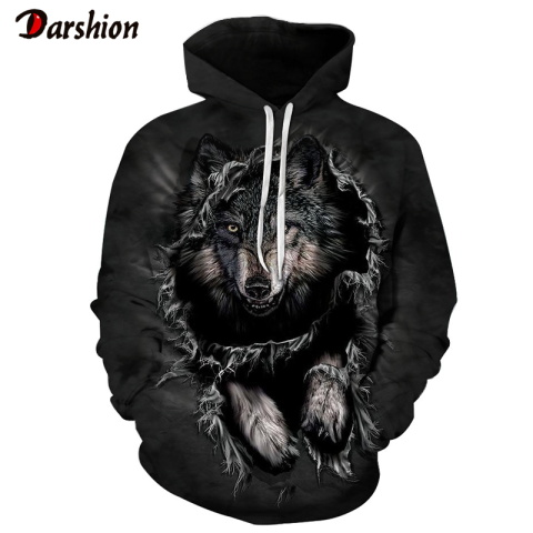 Newest Wolf 3D Printed High Quality Cool Top Men's Hoodies Sweatshirt Fashion Brand Men Funny Plus Size XXS-4XL Hoodies For Male