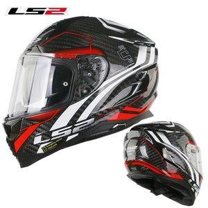 Image 4 - LS2 FF327 Challenger Full Face Motocycle Helmet Carbon Fiber Man Woman capacete ls2 Helemt With Inner Sun len  Racing Casco Moto