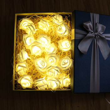 10led Rose Flower Christmas Lights Holiday String Lights Valentine Wedding Decoration Fairy Lights Event Party Garland Luminaria fairy rose 1 5m 10led string lighting bookcase nightlight valentine day flower flasher warm white party wedding christmas decor