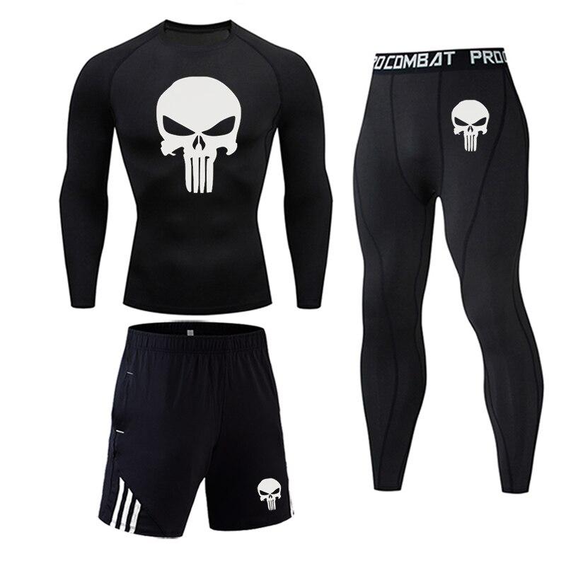 Black - Men's bodybuilding jogging suit