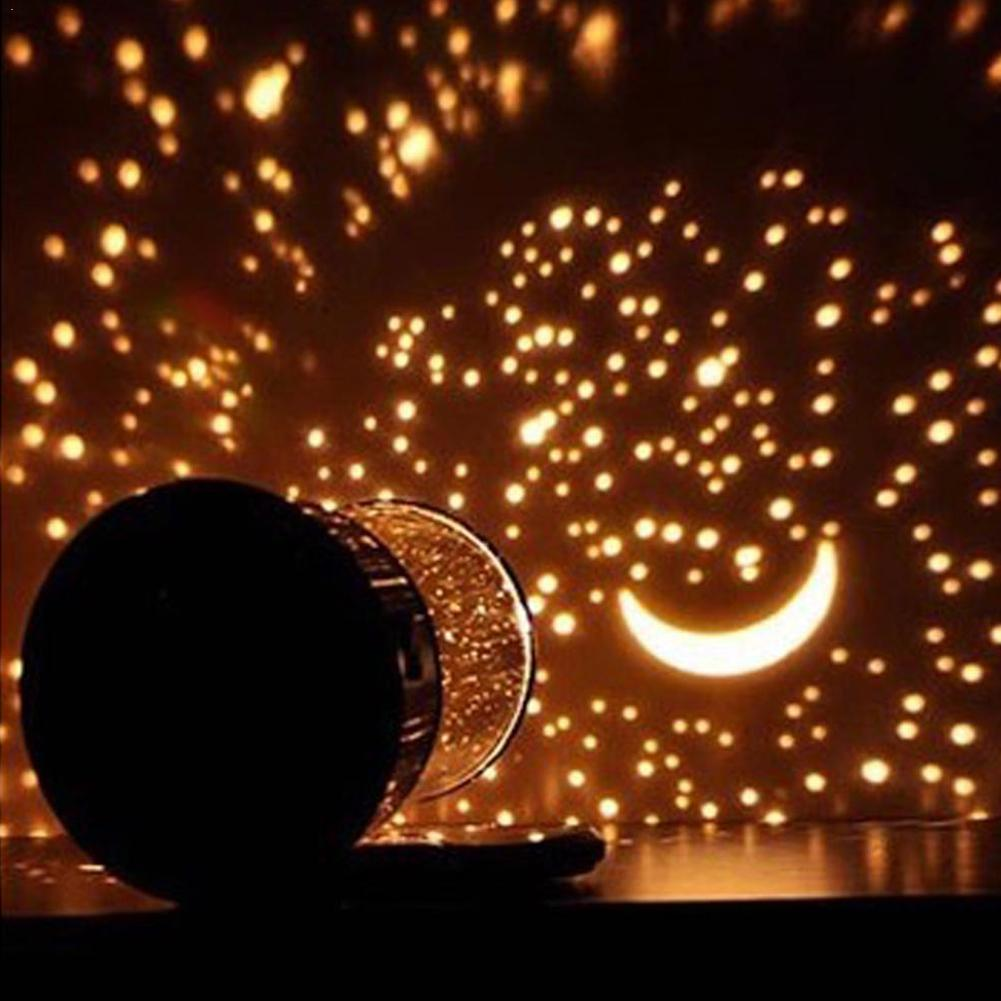 Romantic Amazing Cosmos Moon Colorful Master Star Sky Projector Chidren Universal Night Kid Christmas Present Gift Lamp Lig B6G2