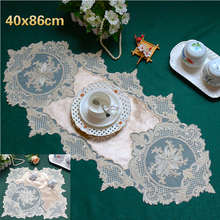 European-style High-end Lace Tablecloth Table Coffee Runner Flag Placemat Fireplace Restaurant Mat Christmas Wedding Decoration