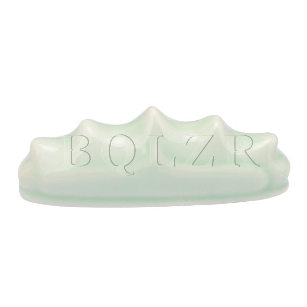 BQLZR Light Green Ceramic Painting Brush Rest Holder Stand Calligraphy Rack