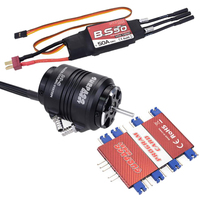 SURPASS HOBBY Waterproof 2948 Motor & Water Cooling Jacket & 50A Brushless ESC Programming Card for RC Boat RC Accessories