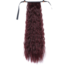 18'' Afro Long Kinky Curly Drawstring Ponytail Claw Clip In Pony Tail Hair Extensions Hairpiece Heat Resistant Synthetic Bu