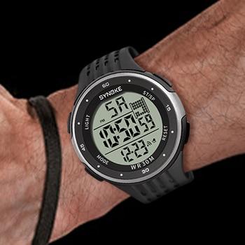 SYNOKE erkek spor saat dijital tarih klasik açık ordu erkekler saat büyük arama su geçirmez dijital saatler Relogio Masculino