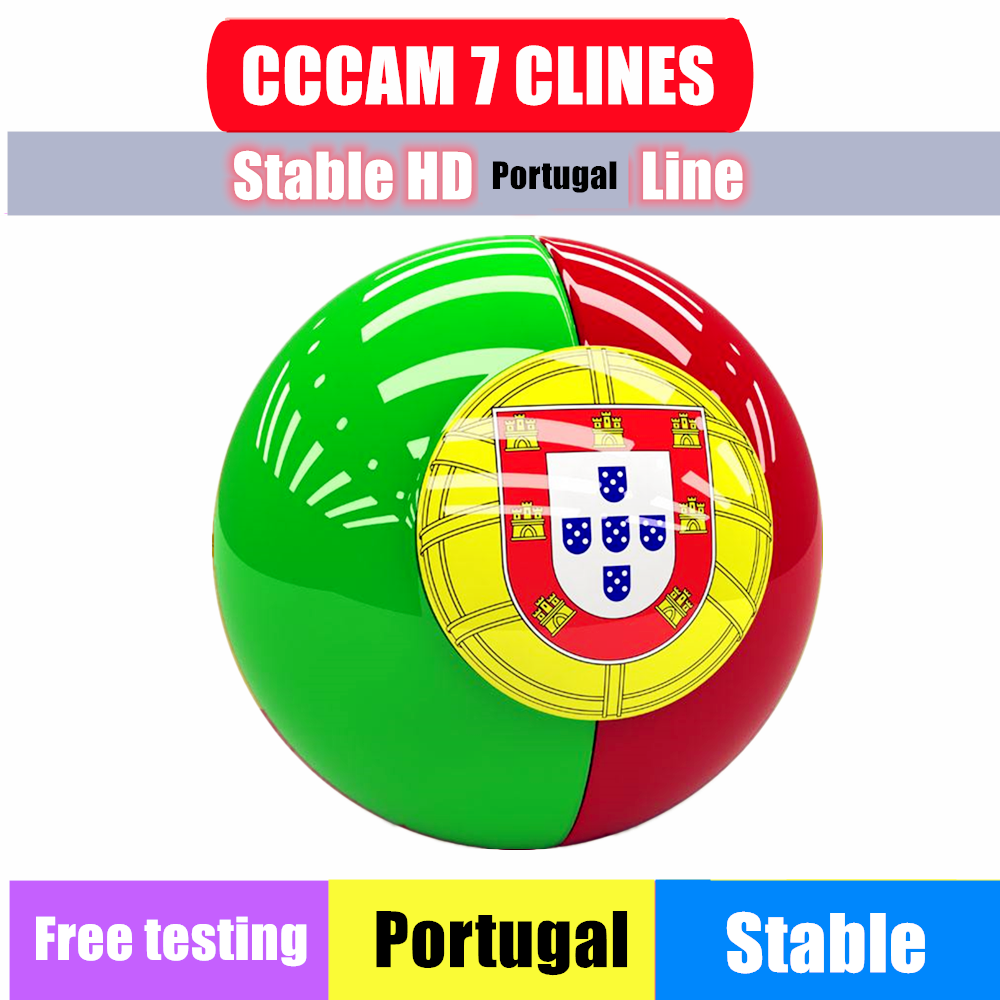 Special For Portugal  Europe HD 1 Year CCCam Czech Germany Poland Oscam Cline Satellite Tv Receiver 7 Clines For V8 Nova V7S HD