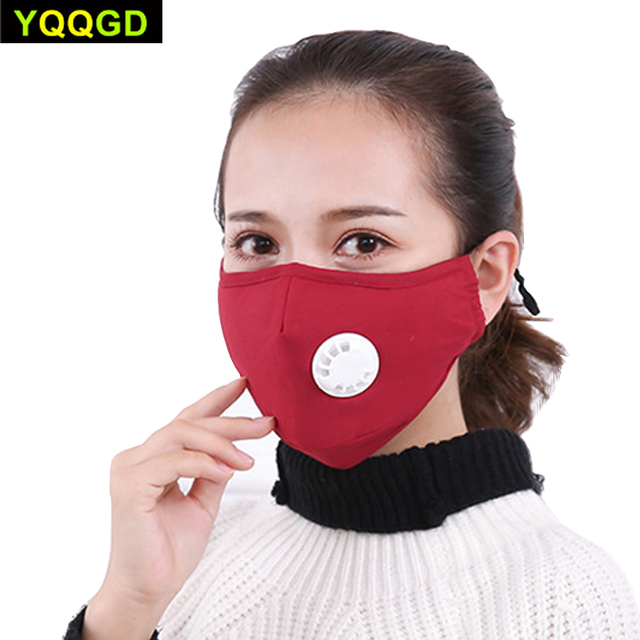 1Pcs Mask Respirator Washable Reusable Masks Cotton Unisex Mouth Muffle for Travel/ Cycling 1