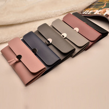 2019 Fashion Long Women Wallets High Quality PU Leather Women's Purse and Wallet Design Lady Party Clutch Female Card Holder fashion style women s clutch with rivets and pu leather design