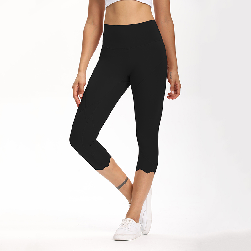 Cardism High Waist Sport Pants Women Yoga Sports Gym Sexy Leggings For Fitness Joggers Push Up Women Calf Length Pants Wave 9