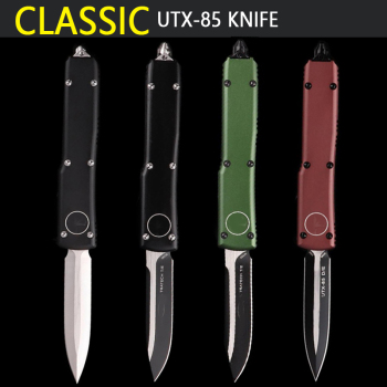 Pocket knife OTF UTX-85 knife S/E D2 blade aluminum handle camping survival outdoor EDC hunt Tactical tool dinner kitchen knife