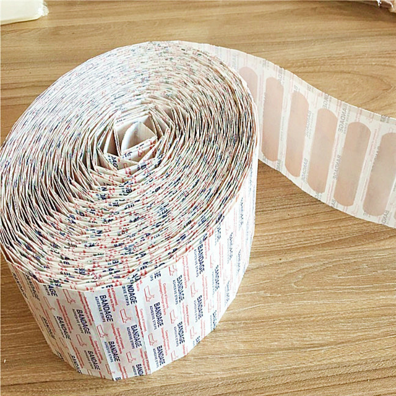 100 teile/los Tragbare Wasserdichte Pflaster Bandage Erste Hilfe Wunde Dressing Medizinische Band Anti-Bakterien Wundpflaster Notfall Kits
