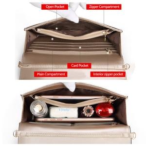Image 5 - Женская сумка через плечо FOXER, черная сумка из воловьей кожи, с цепочкой и ремешком,