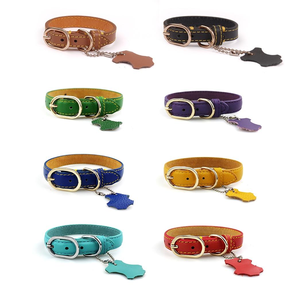 dog genuine leather collar (2)
