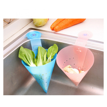 Portable Kitchen cleaning supplies Food Garbage Drain wash Vegetable Fruit basket Sink Chic Shape Foldable Basket Kitchen Strain