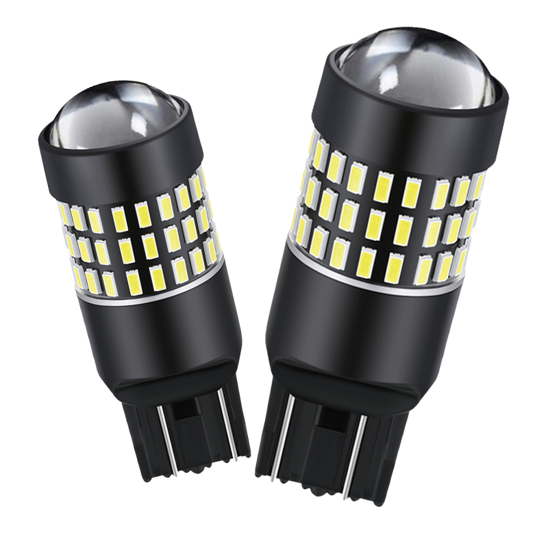 2pcs 7443 7444 T20 W21/5W LED Light DRL LED Bulbs 12V 6500K White Super Bright Reverse Lamp For Lada Kalina Granta Vesta image