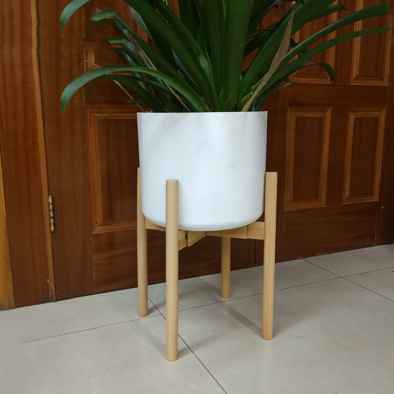 Adjustable Plant Stand Holder Rack Wooden Sturdy For Flower Potted Indoor Outdoor TB Sale