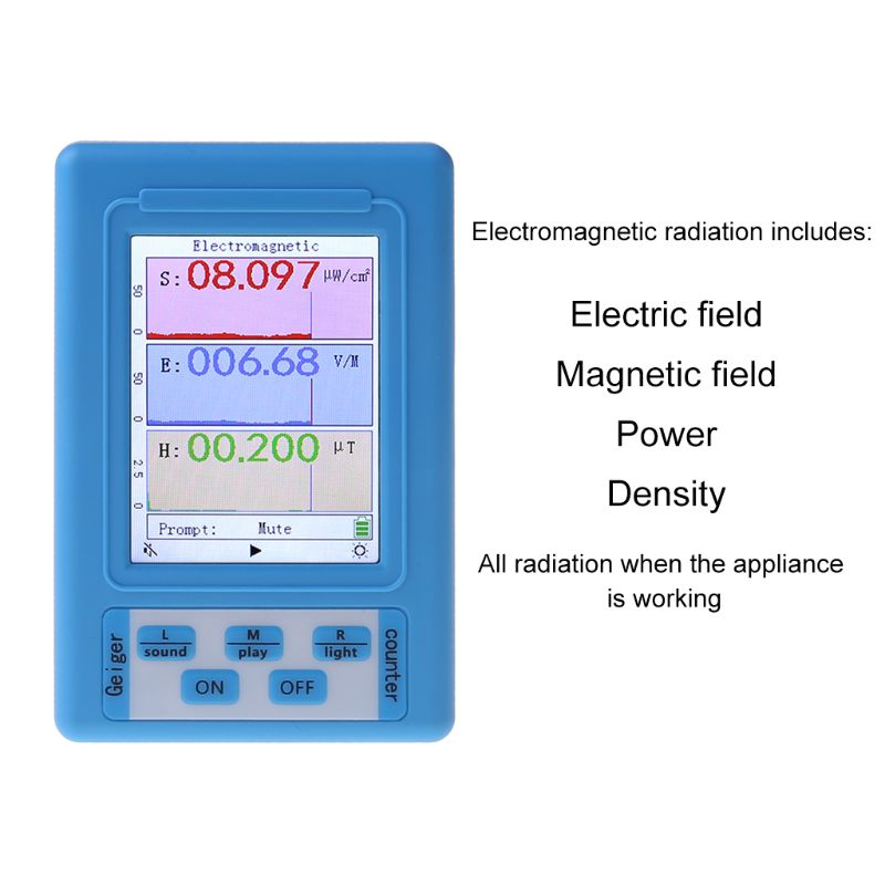Haudang BR-9A Handheld Portable Electromagnetic Radiation Detector High Precision Electromagnetic Radiation Tester