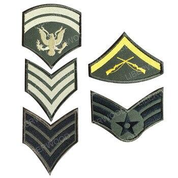 LIBERWOOD militar brazalete de hombro rango parche Rango Aéreo Gran Maestro ejército bucle gancho Placa de Chevron parche apliques